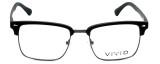 Calabria Viv Designer Reading Glasses Vivid-257 in Black 52mm