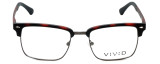 Calabria Viv Designer Reading Glasses Vivid-257 in Demi Red 52mm