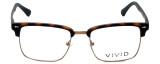 Calabria Viv Designer Reading Glasses Vivid-257 in Tortoise 52mm