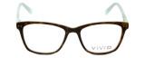 Vivid Designer Eyeglasses Vivid-878 in Tortoise-Green 51mm :: Rx Bi-Focal