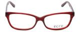Ecru Designer Eyeglasses Beck-005 in Red 53mm :: Rx Bi-Focal