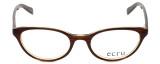 Ecru Designer Eyeglasses Daltrey-004 in Brown 50mm :: Rx Bi-Focal