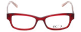 Ecru Designer Eyeglasses Stefani-030 in Lipstick 50mm :: Rx Bi-Focal
