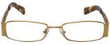 Calabria Designer Eyeglasses 812-GLD in Gold 49mm :: Progressive