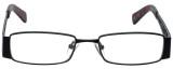 Calabria Designer Reading Glasses 812-BLK in Black 49mm