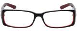 Calabria Designer Eyeglasses 818-BLK in Black 52mm :: Rx Single Vision