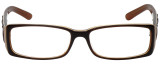 Calabria Designer Eyeglasses 818-BRN in Brown 52mm :: Rx Single Vision