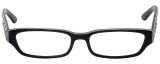 Calabria Designer Eyeglasses 820-BLK in Black 50mm :: Rx Single Vision