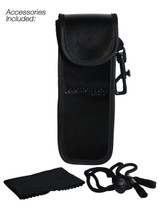 Included Velcro Clip Case with Micro-Fiber Cleaning Cloth & Lanyard