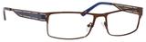 Dale Earnhardt, Jr Eyeglasses 6798 in Brown Frames/Navy 60 mm Progressive