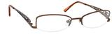Dale Earnhardt, Jr Designer Eyeglasses 6706 in Brown Metal Frames-51mm Progressive