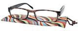 Calabria Mira Rectangular Designer Reading Glasses 50mm