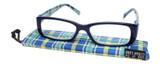 Calabria Beth Rectangular Designer Reading Glasses 50mm