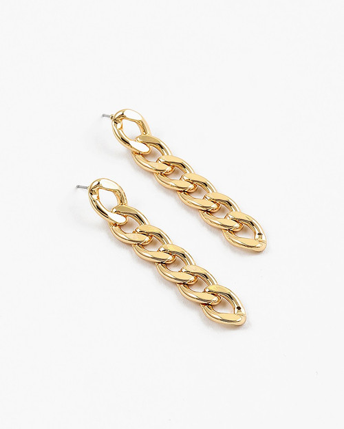 Gold Cuban Link Earring
