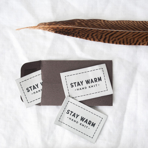 Stay Warm Woven Label
