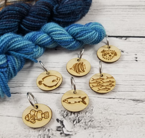 Stitch Marker of the Month: Fish! (July 2021)