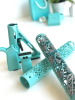 Robin Egg Blue Diamond patterned hand guard with Magpul MOE set