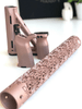 Magpul MOE Full set including stock, grip and front grip with Mandala Lotus AR15 hand guard in Rose Gold Cerakote