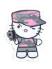 Camo Kitty Pink Sitcker
