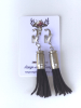Range Angel 357 caliber casing and black suede zipper pull tassel