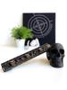 Slim Series Skull Design Design in Black and Gold Battleworn Cerakote Finish Option with black skull accessory