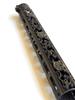 Slim Series Skull Design forend bottom featuring mlok integration in  Black and Gold Battleworn Cerakote Finish Option