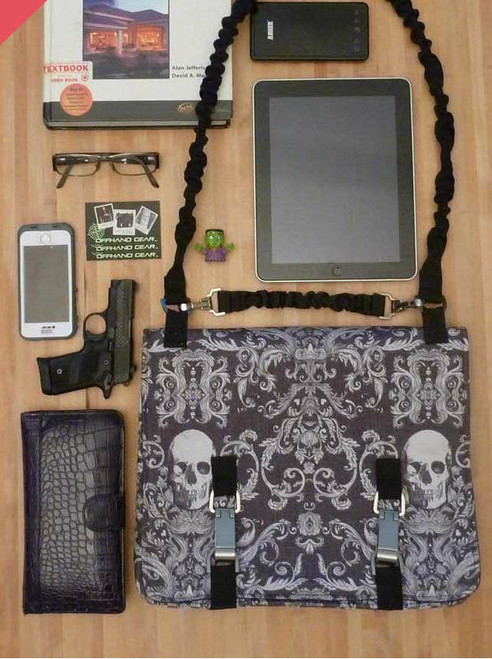 NORB in Charcoal Grey Skull Damask fabric