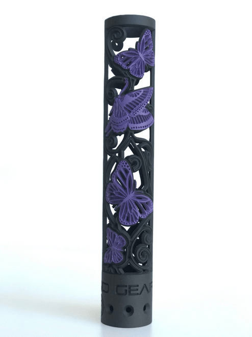 Butterfly patterned 2 Color Purple and Black Cerakote