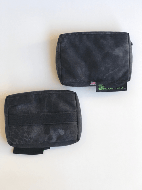 NORM Rear rest front and back in black Kryptek fabric