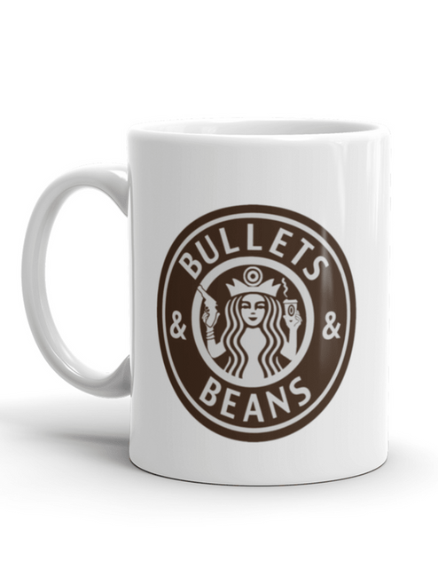 Bullets and Beans 15oz Mega mug Front