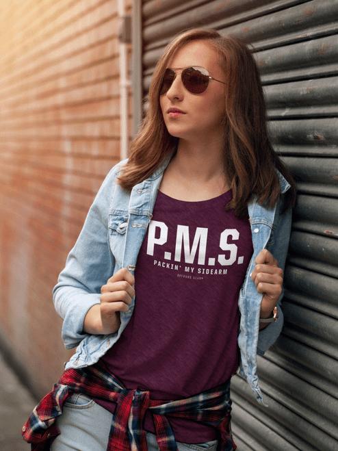PMS Tee in Amethyst Heather Bella Canvas Tee