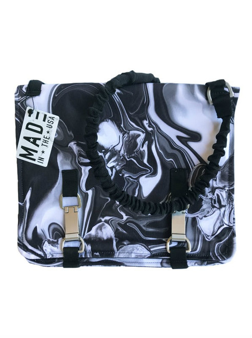 NORB messenger style bag in Titanium Flower fabric NEW