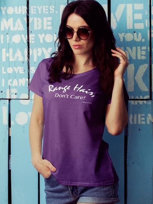 Range Hair Don't Care Purple Women's Tee