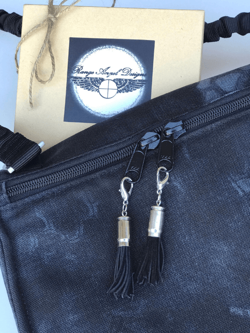 Range Angel zipper pulls silver and black on NORB