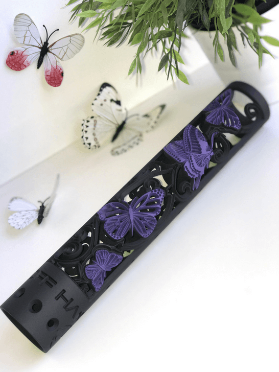 Butterfly AR15 hand guard 2 color black and wild purple