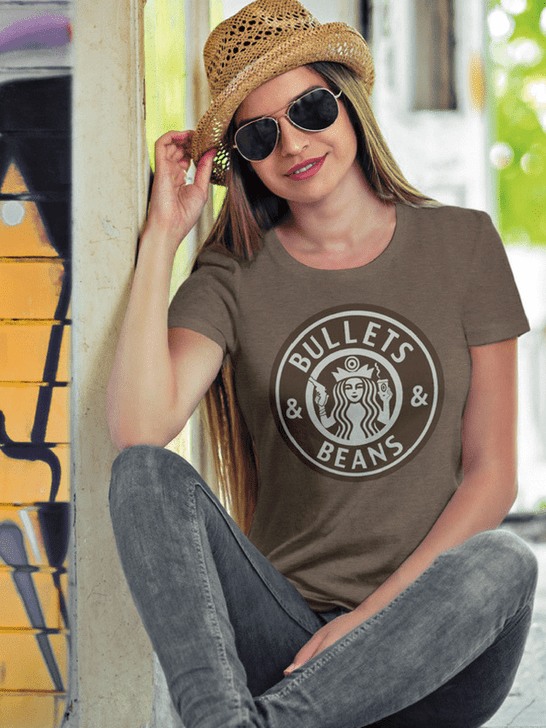Bullets & Beans Coffee Tee Womens T-Shirt