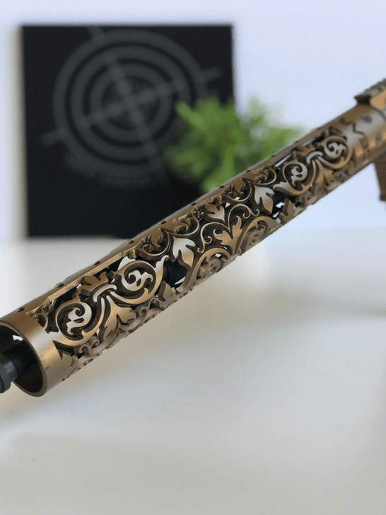 FDL Fleur D Lis AR15 rail shown in GunCandy Java