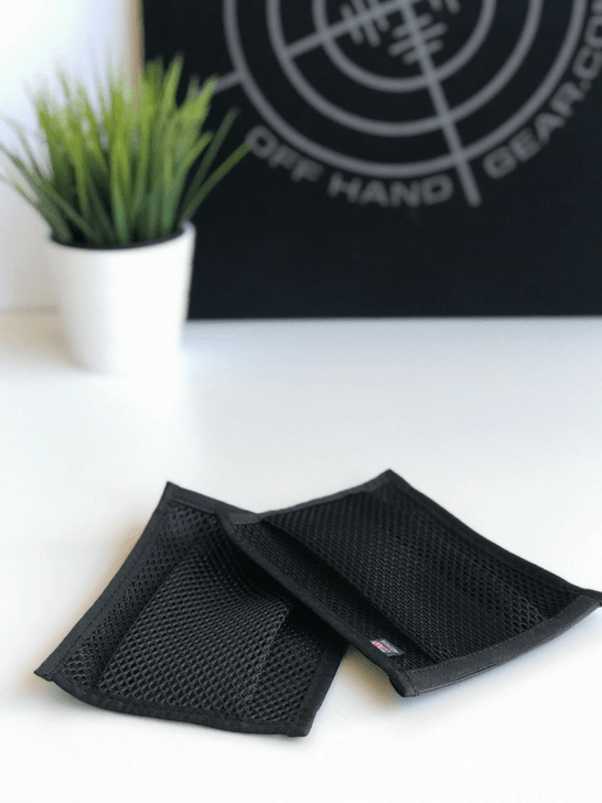 NORM Spent brass pouch in black mesh