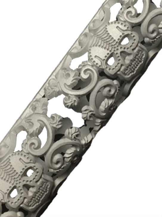 Sugar Skull AR15 hand guard close up