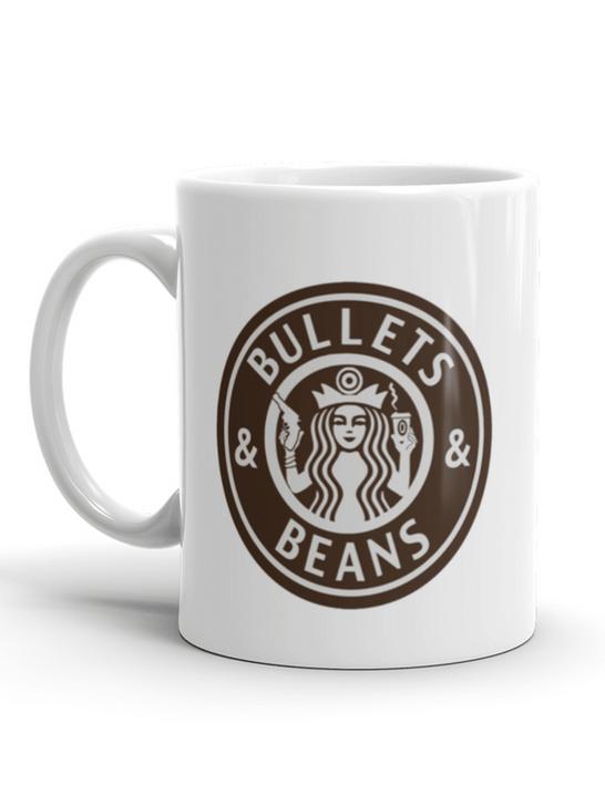 Bullets and Beans 15oz Mega mug Front