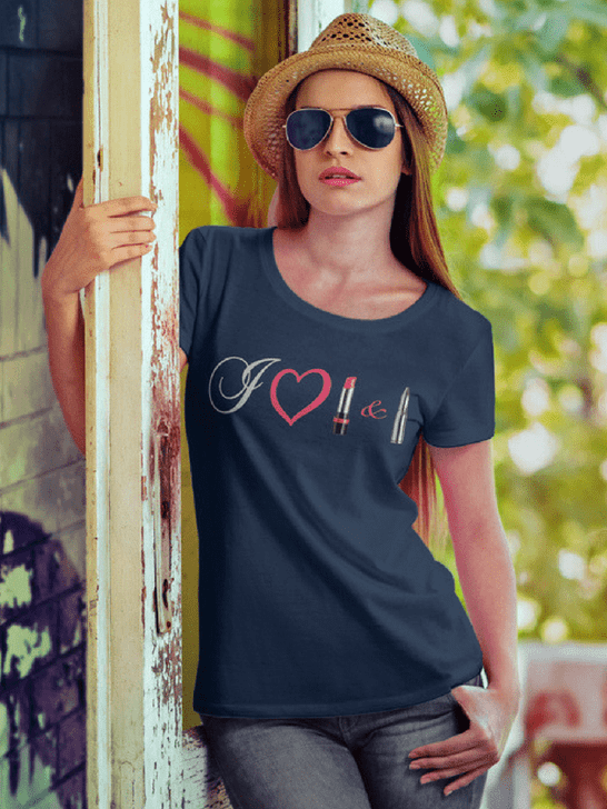 Lipstick and Lead Love White Scoop Neck Tee