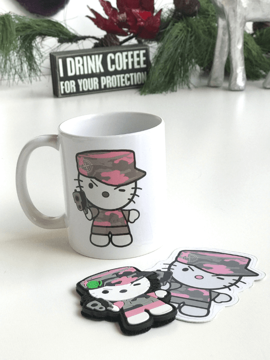 Wake Me Up Gift with Mug, Patch and Sticker