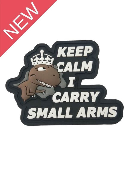 T-Rex - Keep Calm I Carry Small Arms PVC Patch