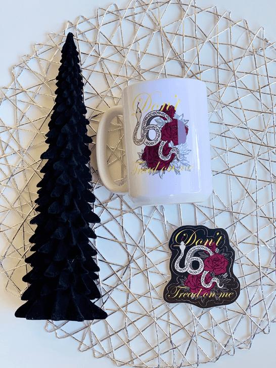 Lady Gadsden Mug and Sticker Set Holiday
