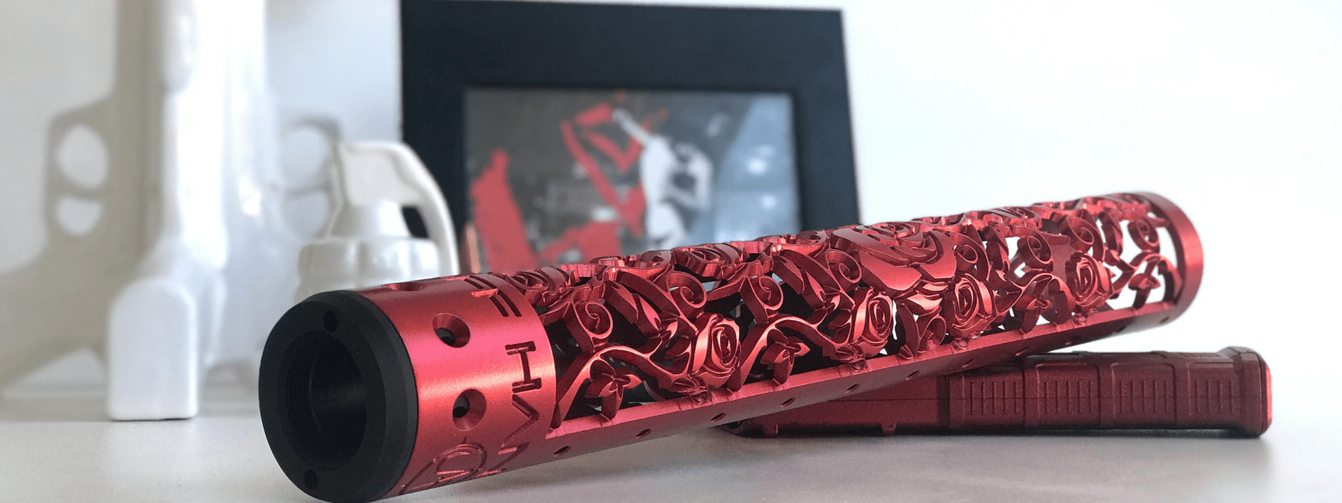 Rose Vine Iron Man Red Hand Guard