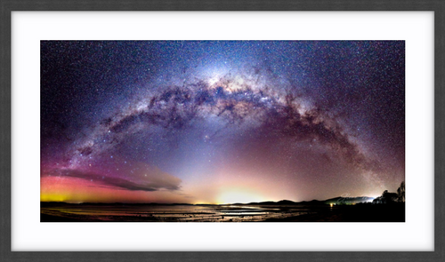 Aurora Australis and the Milky Way in Tasmania