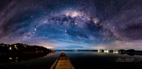 Milky Way sets over Freycinet Tasmania