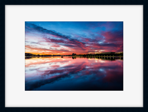 Lake Burley Griffin Sunrise Reflection