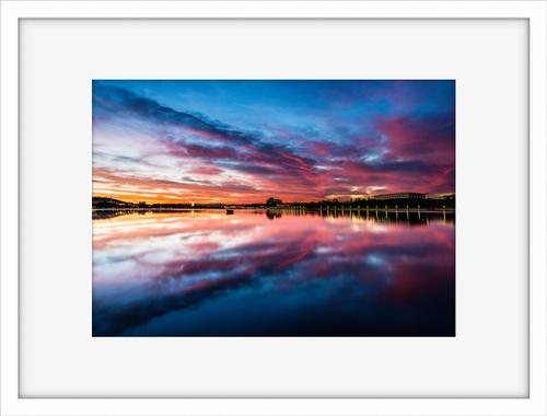 Lake Burley Griffin Sunrise Reflection