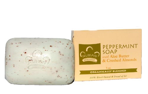 Nubian Heritage Shea Butter Peppermint &  Aloe Butter Soap w/ Crushed Almonds